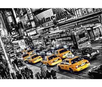 Fotobehang New York Cabs Queue 366x254 cm