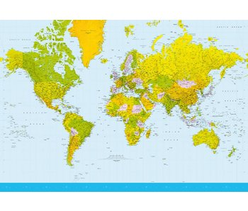 Fotobehang Map of the World 366x254 cm