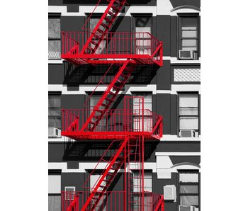 Fotobehang Fire Escape 183x254 cm