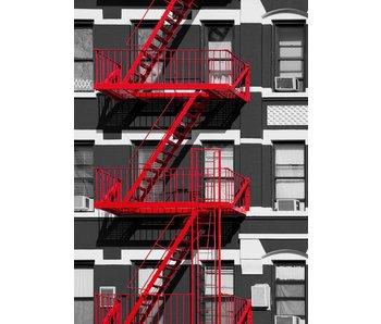 Fotobehang Fire Escape 183x254 cm