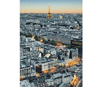Fotobehang Paris Luftaufnahme 183x254 cm
