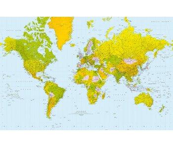 Fotobehang Karte der Welt 175x115 cm