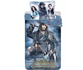 Pirates of the Caribbean Dekbedovertrek Jack Sparrow 140x200cm + 70x90cm
