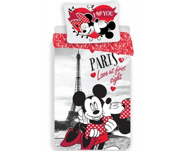 Disney Minnie Mouse Dekbedovertrek Paris Love 140x200cm + 70x90cm