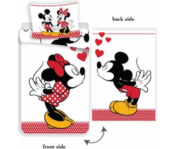 Disney Minnie Mouse Quilt cover kiss 140x200cm + 70x90cm