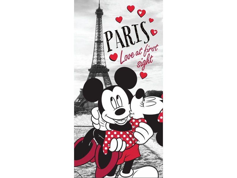 Disney Minnie Mouse Paris - Beach Towel - 70 x 140 cm - Multi