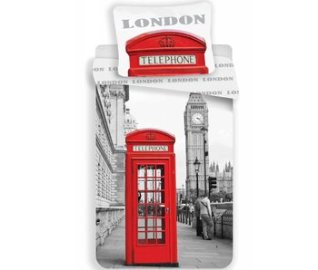 Londen Telefon Bettbezug 140x200cm + 70x90cm
