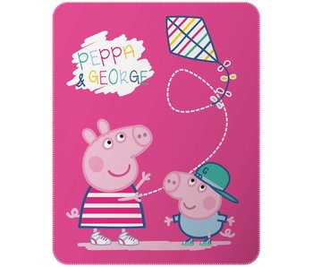 Peppa Pig Fleece Plaid Recreation 110x140cm Polyester