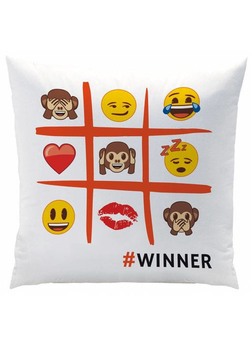 Emoji Cushion Emotions 40x40cm Polyester