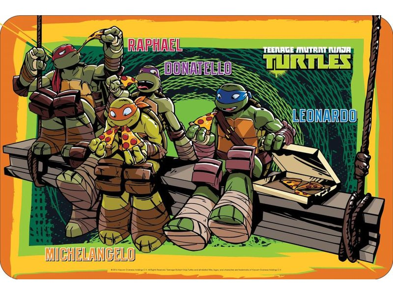 Teenage Mutant Ninja Turtles Placemat 43 X 29 Cm Multi
