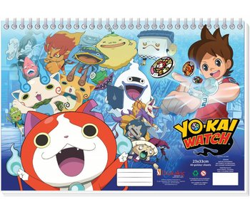 Yo-Kai Watch Tekenblok 23x33cm