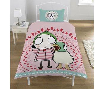 Sarah & Duck Duvet cover Noisy Duck polycotton 140x200 + 50x75cm