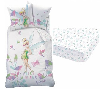 Disney Fairies Tinkerbell Set Duvet Cover + Hoeslaken Wings