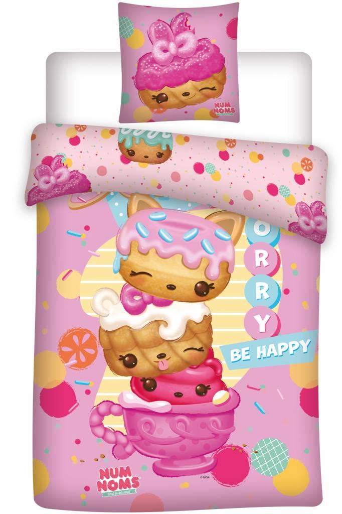 Num Noms Be Happy   Duvet Cover   Single   140 X 200 Cm   Pink