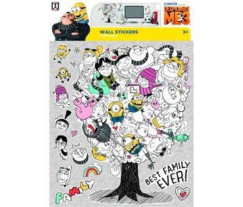 Minions Wall Decal Despicable 3 Family Tree