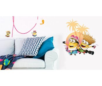 Minions Muursticker Despicable 3 On vacation