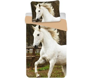 Animal Pictures Duvet White Horse 140x200cm + 70x90cm
