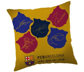 FC Barcelona Cushion signatures 40x40cm