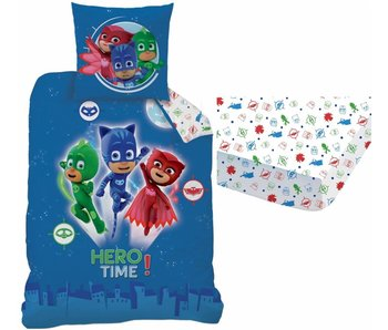 PJ Masks Set Bettdecke + Spannbettuch Held