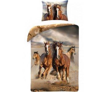 Animal Pictures Dekbedovertrek Paarden 140x200cm