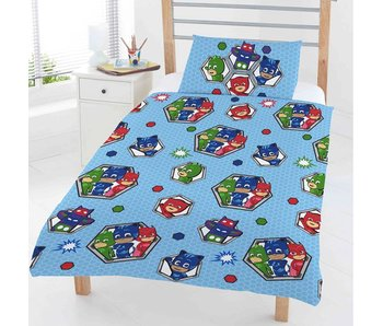 PJ Masks Junior Dekbedovertrek Badges 120x150cm