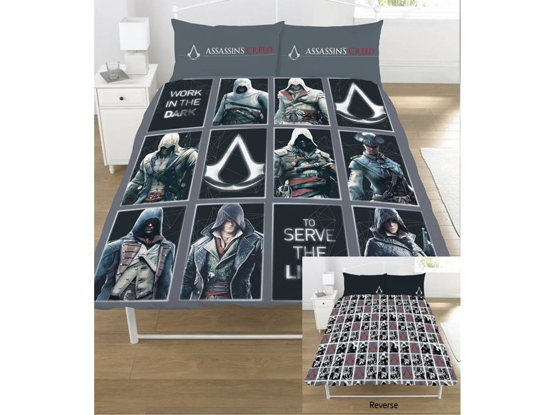 Assassin's Creed Legacy - Dekbedovertrek - Tweepersoons - 200 x 200 cm - Multi