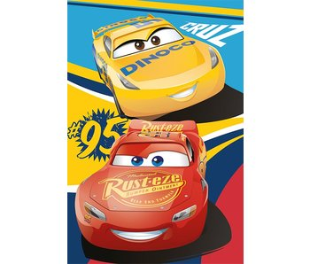 Disney Cars Fleece plaid Cruz Ramirez & Lightning Mc Queen 100x150cm