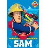 Brandweerman Sam Action - Fleece plaid - 100 x 150 cm - Pink