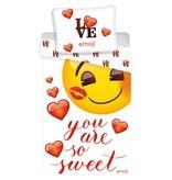 Emoji You are so Sweet - Dekbedovertrek - Eenpersoons - 140 x 200 cm - Multi