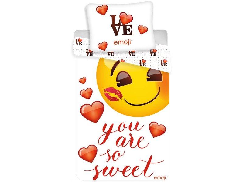 emoji you are so sweet duvet cover single 140 x 200 cm multi