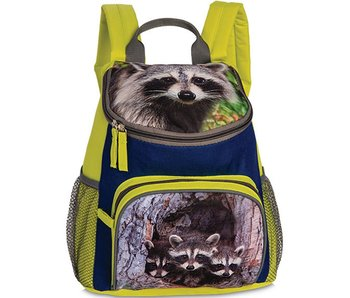 Animal Pictures backpack raccoon Lime 30 cm