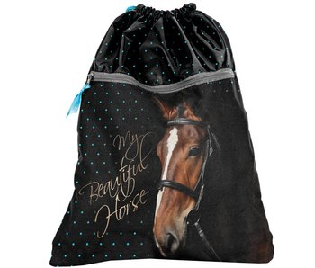 Animal Pictures Gymbag My Beautiful Horse zwart