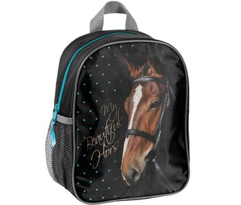 Animal Pictures Backpack My beautiful horse black 28cm
