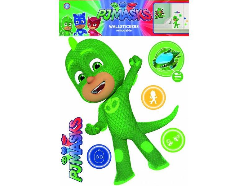 pj masks gekko wall sticker green simbashop nl