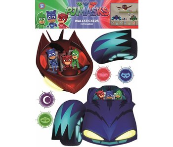 PJ Masks Muursticker Cars and Villains