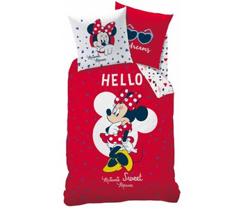 Disney Minnie Mouse Bettbezug Hallo 140 x 200 + 70x90cm