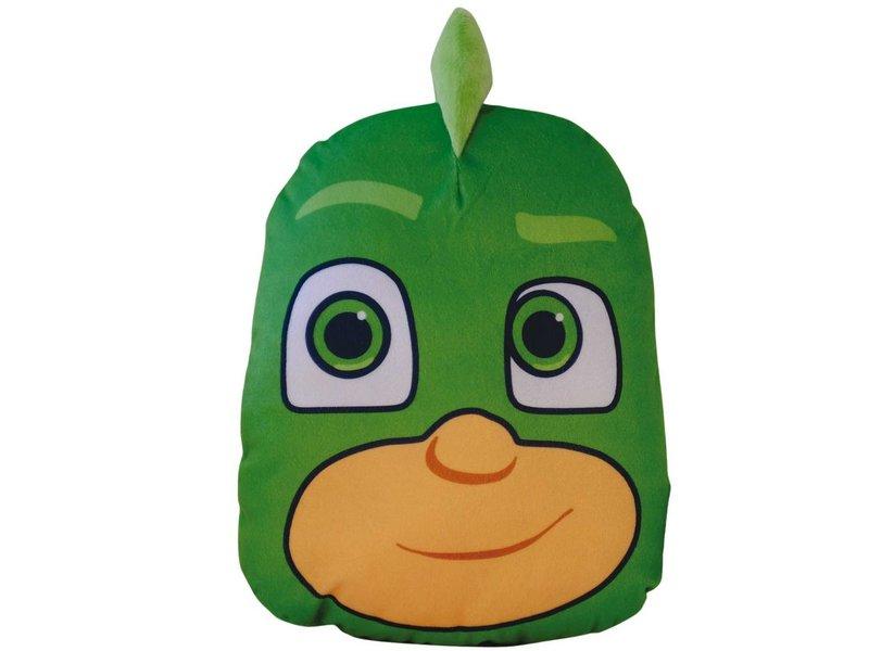 pj masks 3d gekko cushion 30 x 25 x 8 cm green simbashop nl