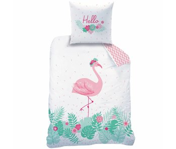 Matt & Rose Bettbezug Flamant rose  140 x 200 + Kissenbezug 63x63 cm