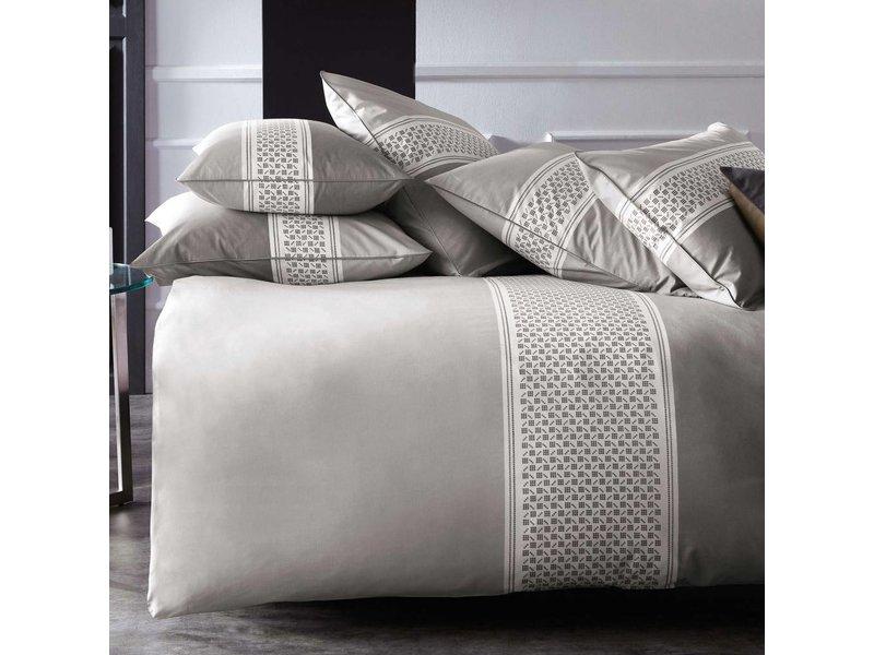 Matt & Rose Esprit Domino - Bettbezug - Hotel Größe - 260 x 240 cm - Taupe - Inklusive 2 Kissenbezüge