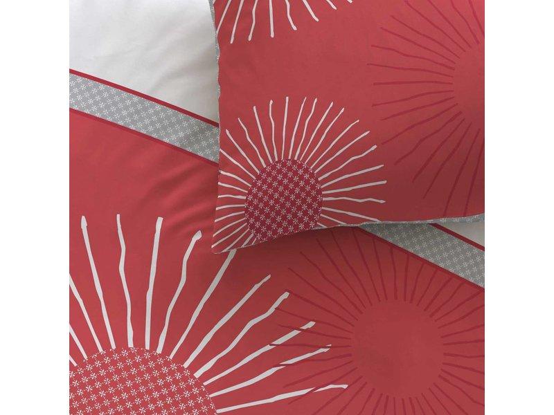 Matt & Rose Style zénith - Duvet cover - Single - 140 x 200 cm - Red - Includes 1 pillowcase