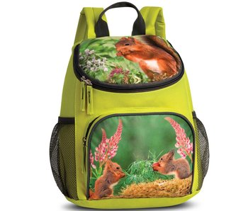 Animal Pictures Backpack Squirrel Green 30 cm