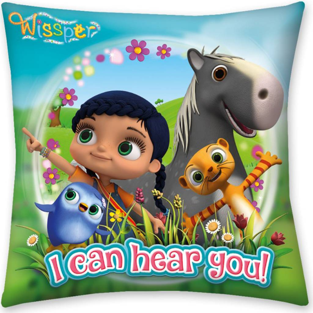 Wissper Sierkussen I Can Hear You 40 x 40 cm - Polyester