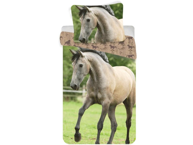 Animal Pictures Western Paard - Dekbedovertrek - Eenpersoons - 140 x 200 cm - Multi