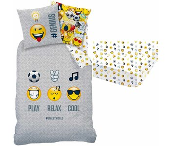 Smiley World Set duvet cover + fitted sheet Mood