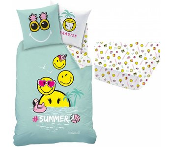 Smiley Set duvet cover + fitted sheet Paradise