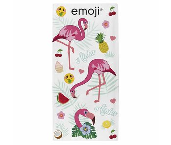 Emoji Beach towel Flamingos 70 x 140 cm