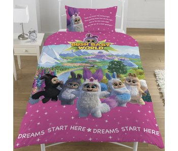 Bush Baby World Duvet cover Sparkle single 135x200 + 50x75cm