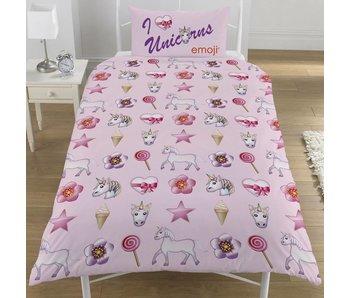 Emoji Bettbezug Unicorns & Mermaids Einzel 135x200 + 50x75cm