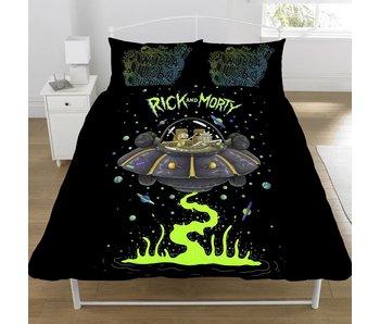 Rick & Morty Dekbedovertrek Ufo Spaceship tweepersoons 200x200 + 50x75cm