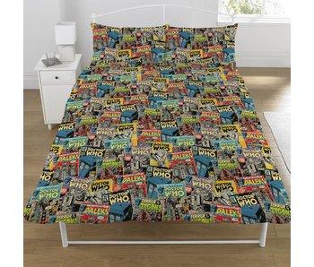 Dr Who Bettbezug Comics Doppelbett 200x200 + 50x75cm